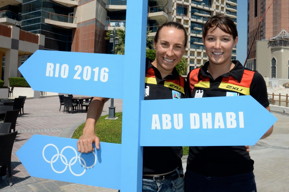 Anne Haug und Anja Knapp in Abu Dhabi bei der World Triathlon Series