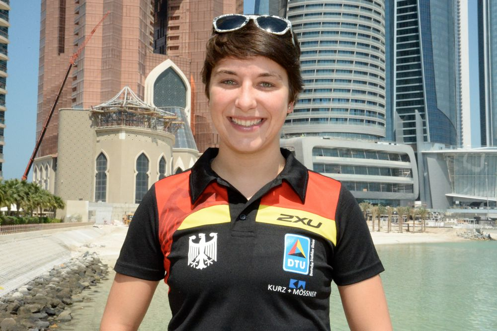 Triathletin Hanna Philippin in Abu Dhabi