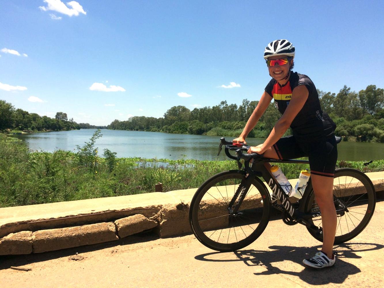 Triathletin Hanna Philippin in Südafrika