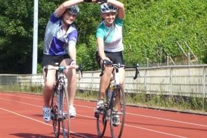 Fahrsicherheitstraining auf dem Rad für Frauen