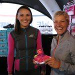 Anja Beranek beim Ironman Frankfurt auf der Expo