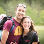 Chrissie Wellington mit ihrem Mann als Zuschauer bei der Challenge Roth