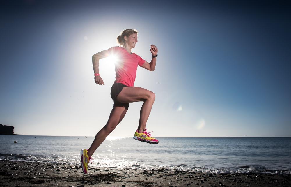 Triathletin Anja Beranek gibt Gas