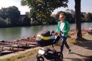 Profi-Triathletin Svenja Bazlen mit Nachwuchs