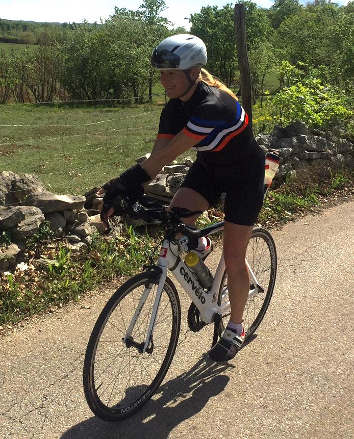 Yoga auf dem Rennrad Doris Kessel zeigt wie es geht
