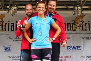 Staffel beim 10. Indeland-Triathlon