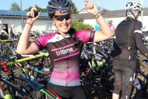 tritime women Botschafterin Jenni Eisenhuber beim Radmarathon in Bimbach