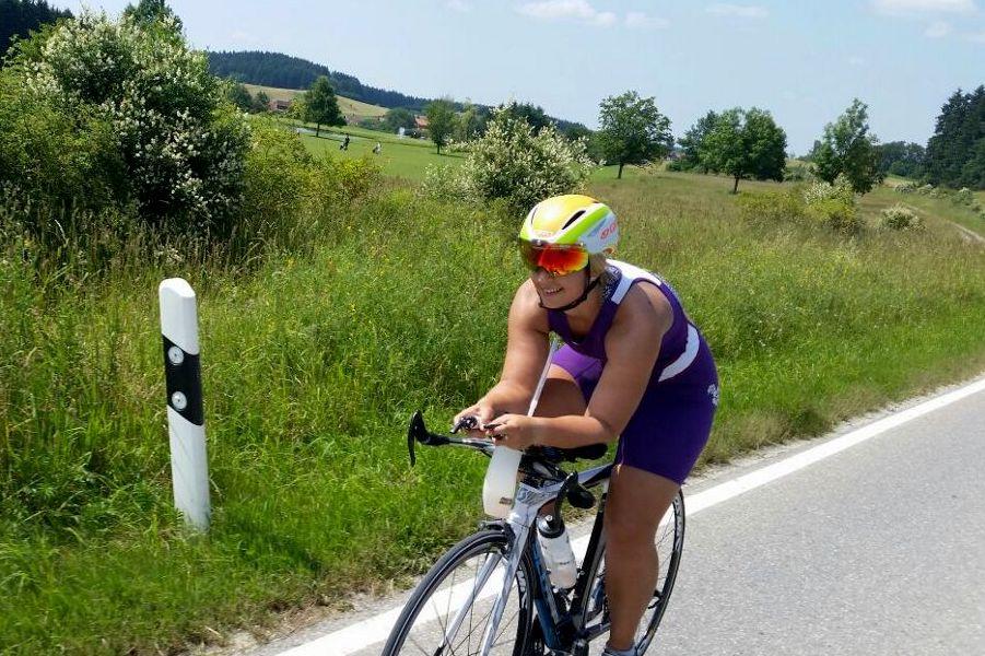 Franziska beim Radtraining