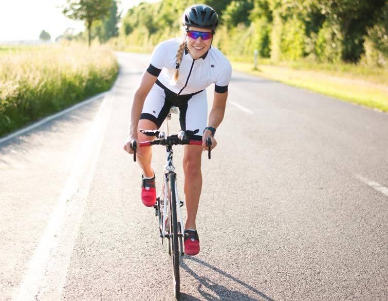 Lange Radeinheiten absolviert Kirsten am Wochenende