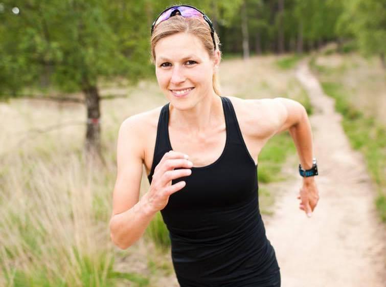 Kirsten de Baey beim Laufen