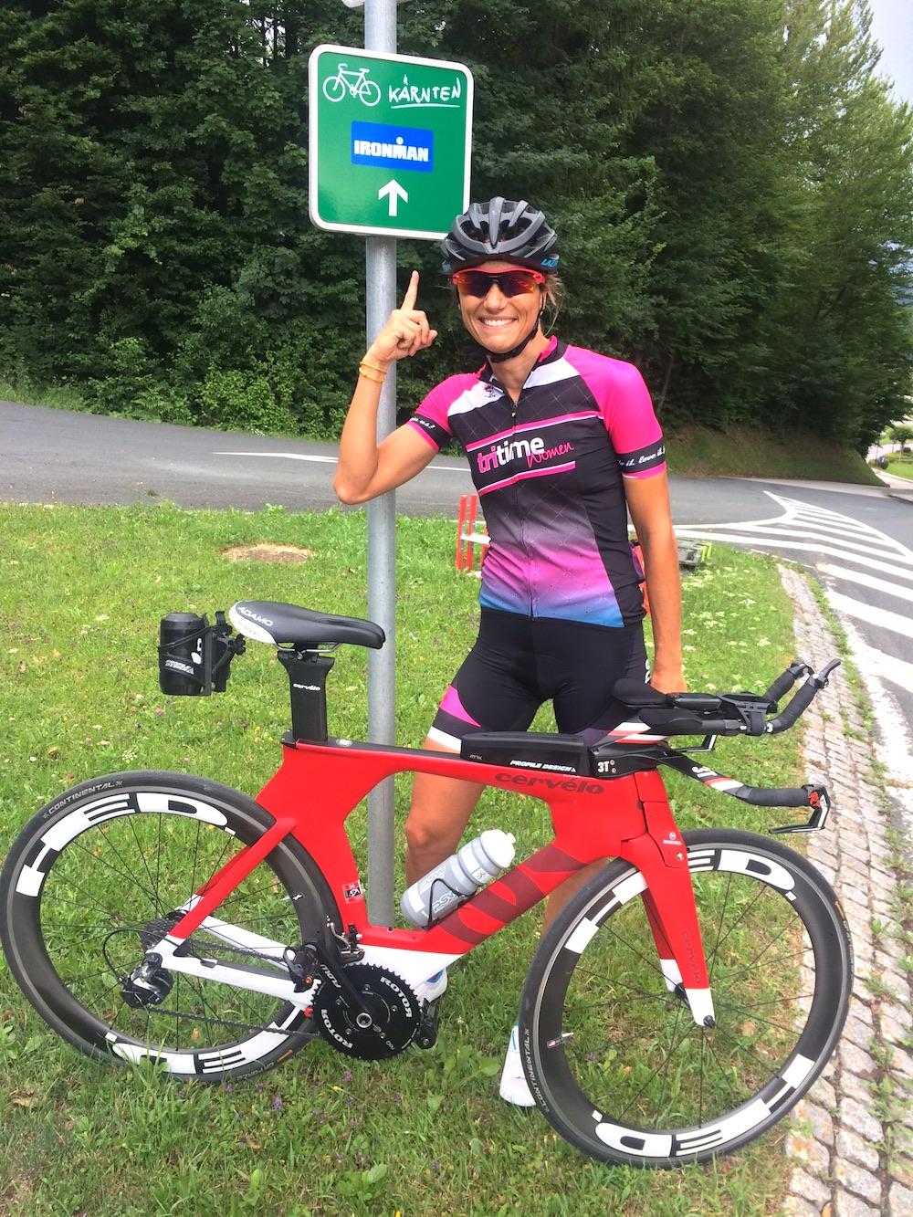 Luisa mit dem P5 beim Ironman in Klagenfurt