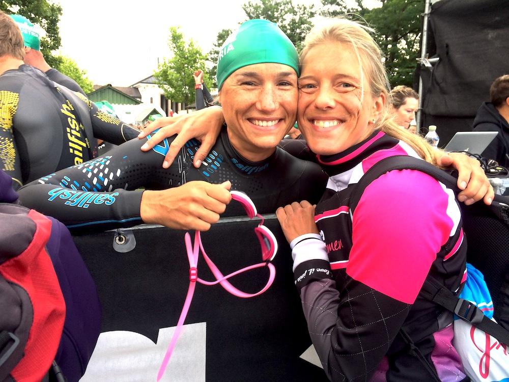 Luisa mit ihrer Supporterin Katja