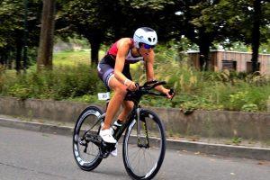 Sigi Mutscheller bei der Triathlonpremiere und Mühlacker