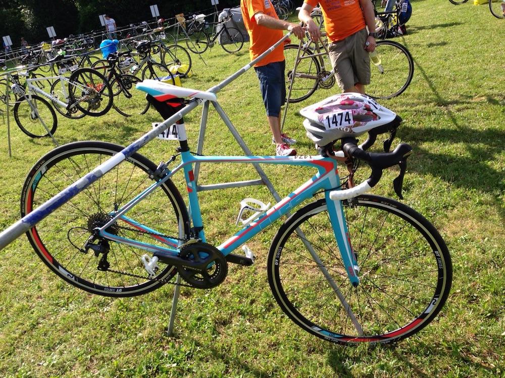 Das erste Rennrad von Franziska