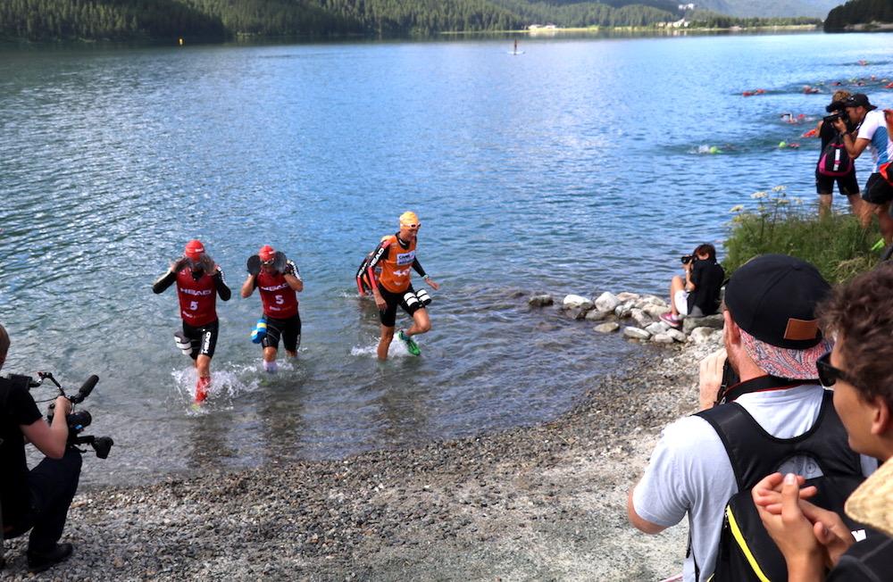 Raus aus dem Wasser und weiter gehts im Laufschritt