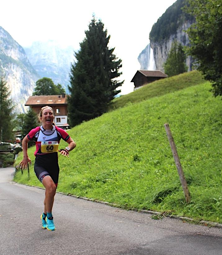 Simone beim Berlauf nach Mürren