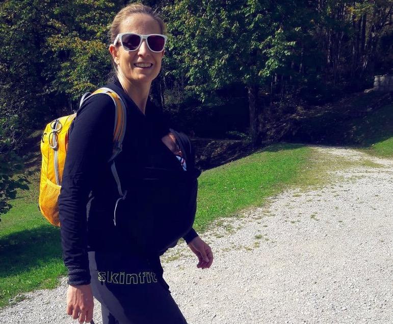 Susa beim Wandern nach der Schwangerschaft