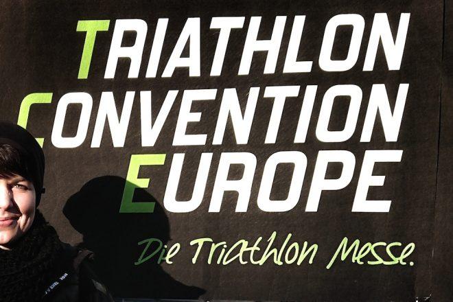 Jule auf der Triathlon Convention Europe in Langen