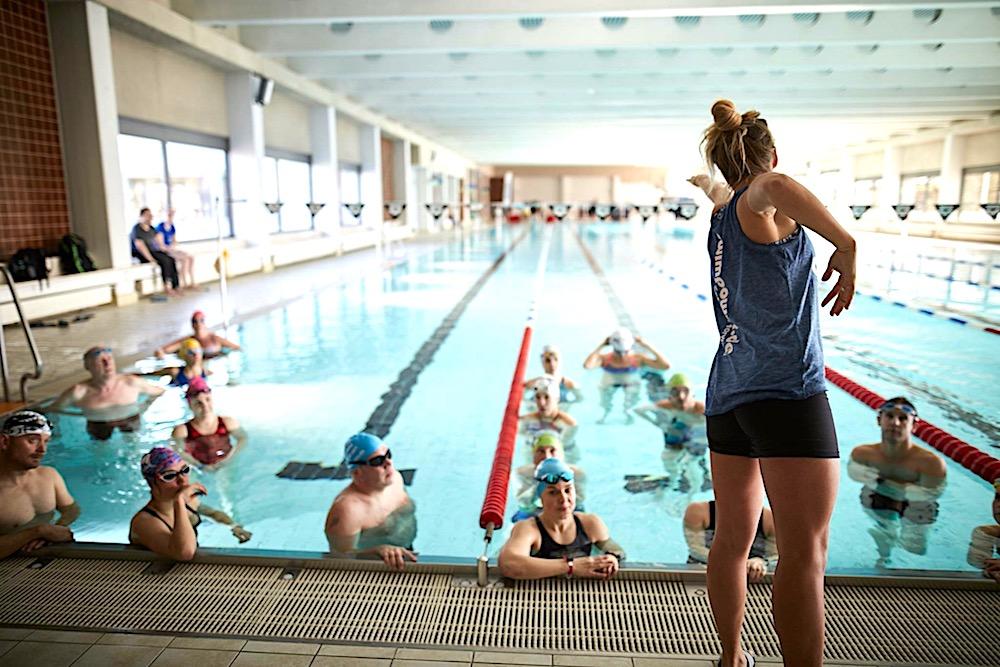 Schwimmeinheit im Lagener Hallenbad