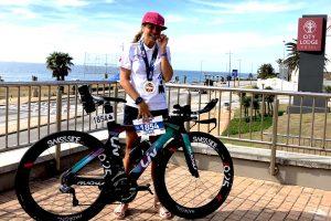 Silke nach dem Ironman Südafrika
