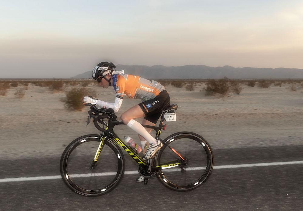 Nicole Reist beim Race Across America 2016