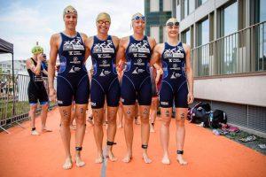 Die Mädels vom Post-SV Tübingen ziehen ein Zwischenfazit zu ihrer ersten Saison in der 1. Triathlon-Bundesliga