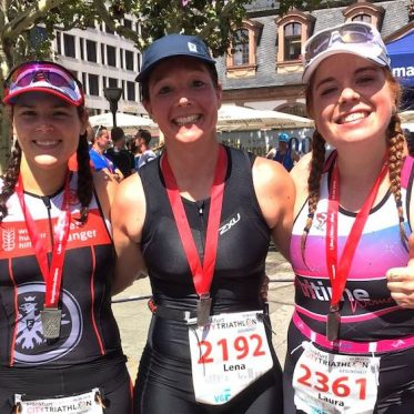 Das tritime women team beim City Triathlon Frankfurt