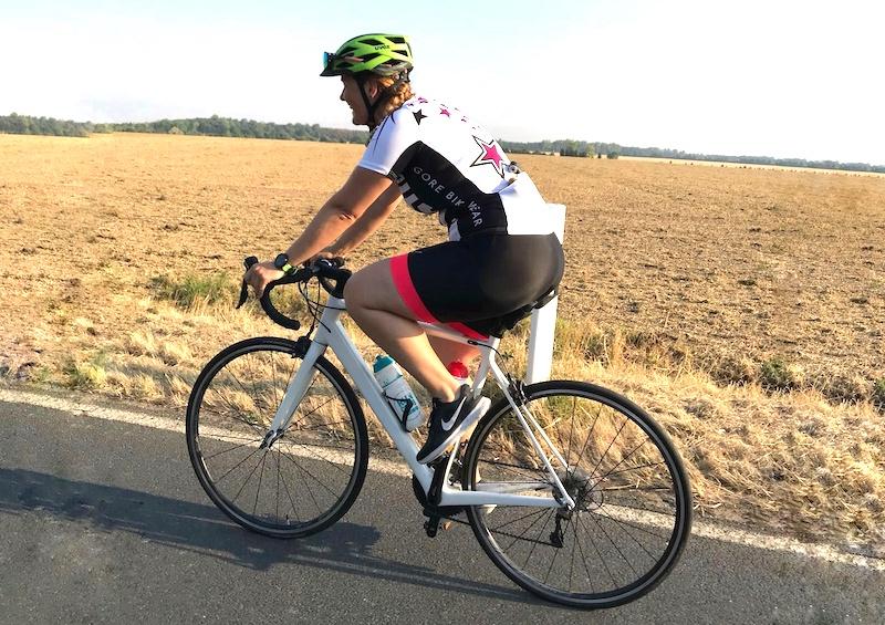 Caro's Rennrad heißt Herr Meier