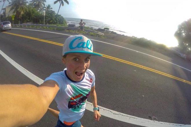 Laura Philipp beim Laufen auf dem Ali'i Drive in Kona