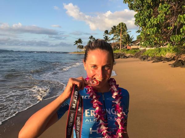 Laura Philipp nach ihrem dritten Rang bei der Xterra-WM auf Maui