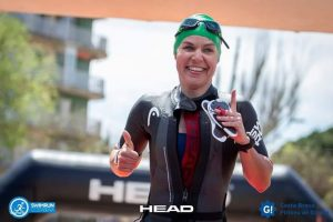 Julia beim SwimRun Costa Brava