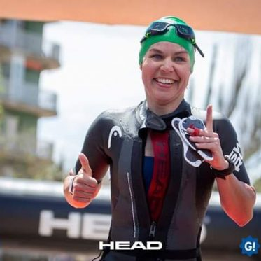 Julia beim SwimRun Costa Brava