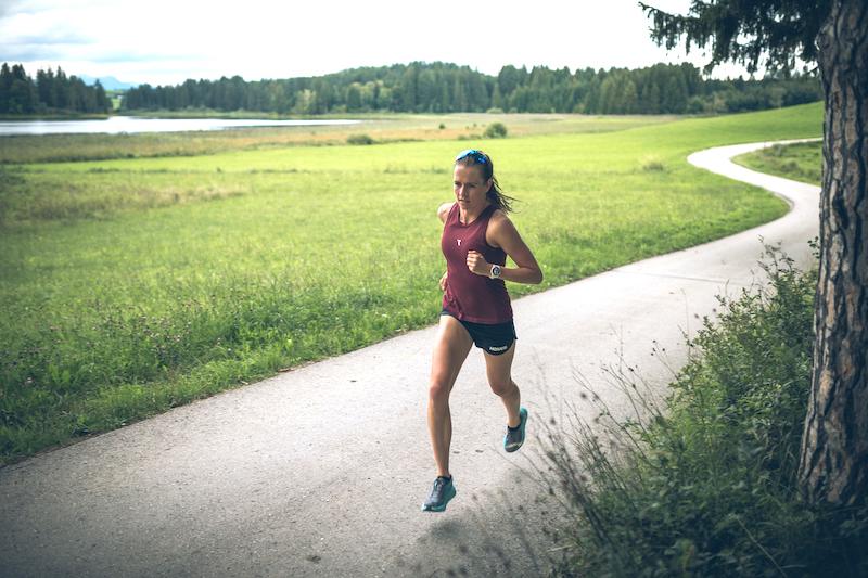 Laura Zimmermann beim Lauftraining