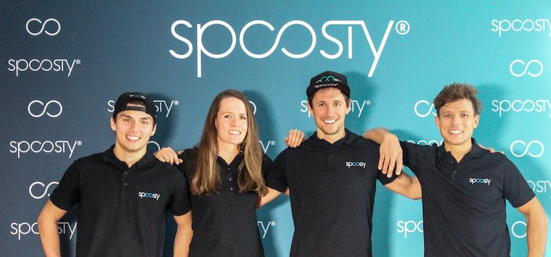 Laura Zimmermann und die Jungs vom Spoosty.pro.tri.team