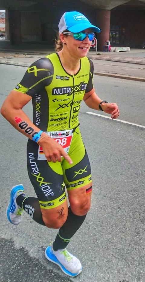 Sabine beim Ironman Kopenhagen auf der Laufstrecke