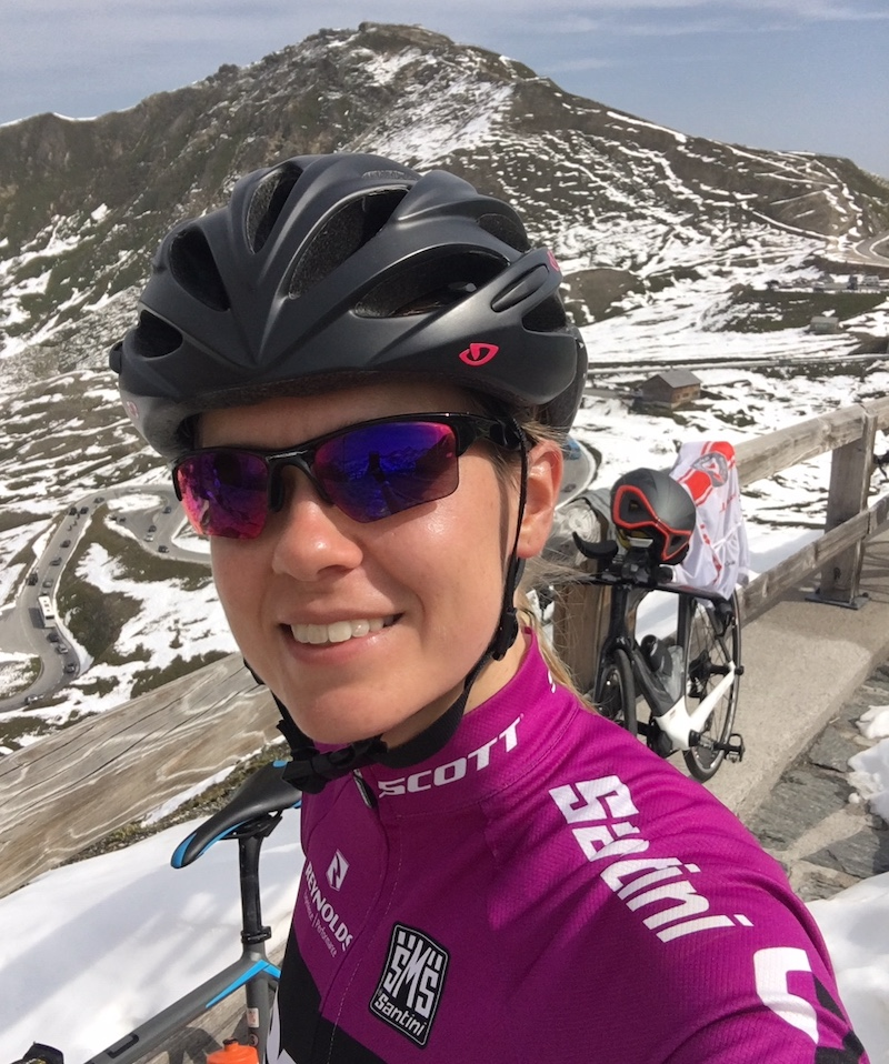 Susi beim Training für den ersten Ironman