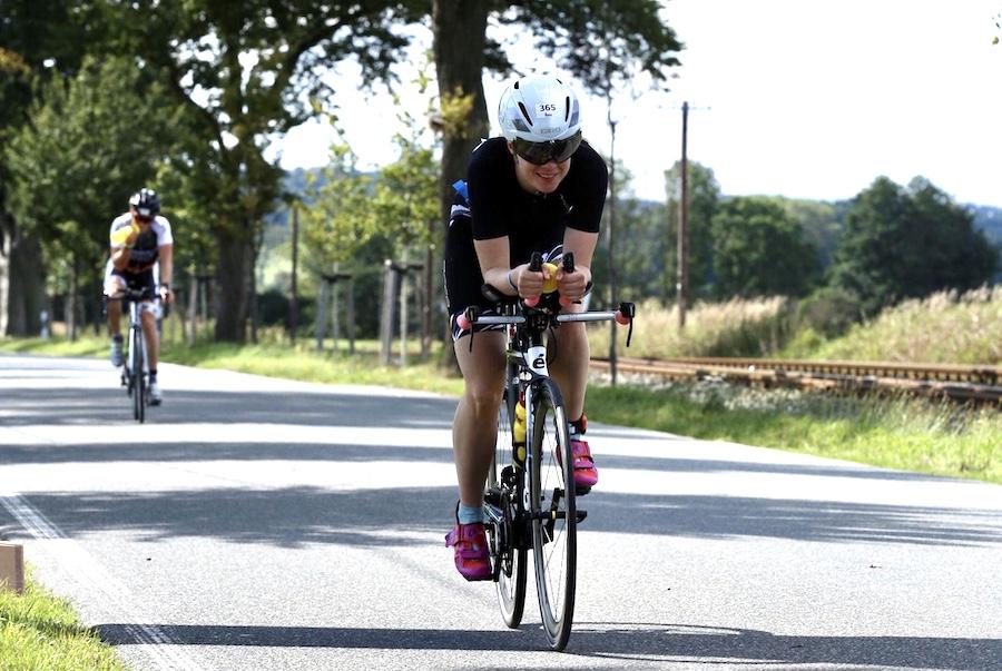 Susi bei ihrer ersten Triathlon Langdistanz