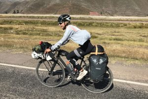 Wiebke beim Bike Packing