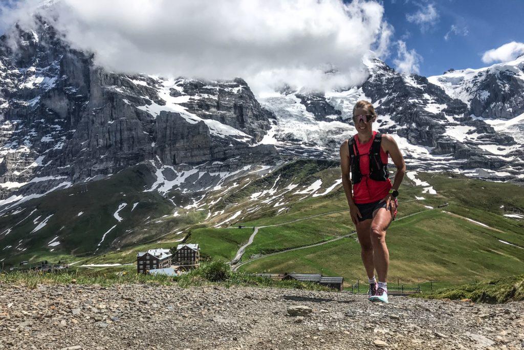 Rabea auf der Kleinen Scheidegg, dem Swissman Ziel