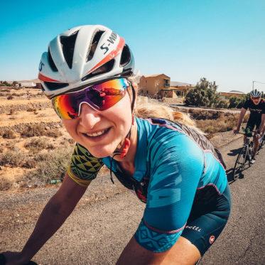Melanie Lüdorf auf dem Rennrad